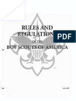 Rules and Regulations of the Boy Scouts of America