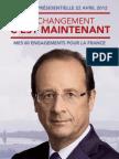 Programme Francois Hollande - Election Présidentielle 2012