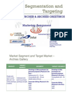 Market Segmentation and Targeting - CL and Archies Gallery