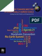 Progress Towards Meeting Internationally Agreed Goals