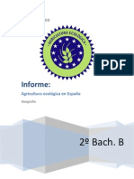 Informe de la agricultura ecológica