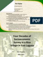 Four decades of socioeconomic studies in a rice village in East Laguna