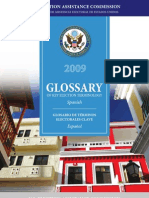 Glossary of Election Terms English to Spanish