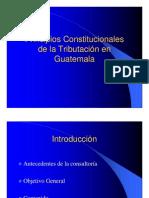 Principios Constitucionales de La Tributacion en Guatemala