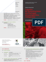 Colóquio Legados do autoritarismo em Portugal em perspectiva comparada