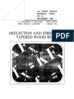 Deflection and Stresses of Tapered Beam