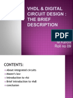 Vhdl & Digital Circuit Design