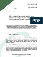 NP_13abril_CSI·F ANDALUCÍA