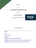 Effets des transformations des états sur leurs dettes publiques et autres obligations financières