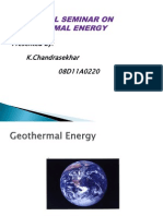 Ppt on GeoThermal Enery