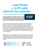 Sappi's Lead Printer Program (LPP) Adds Value for the Customer