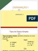 Unidade 5 - PROGRAMA€¦ÇÃO I