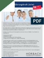 Stellenanzeige Nachwuchsführungskraft 2012 Rolf Schmitz
