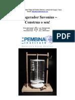 Aerogerador Savonius Construção Traduzido