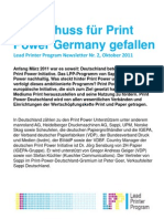Startschuss für Print Power Germany gefallen