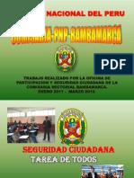 Experiencia en seguridad ciudadana PNP Hualgayoc Bambamarca