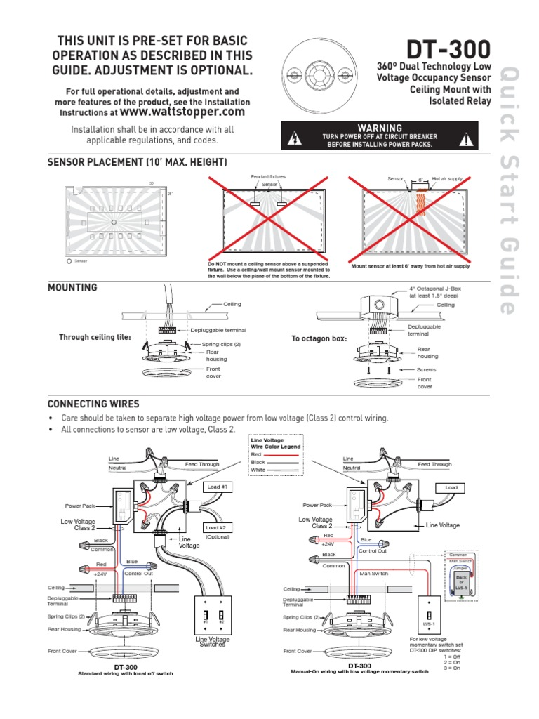 Watt Stopper Wiring Diagram | Wiring Diagram