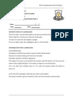3 EM 2012 Mid Year Examination Paper 1