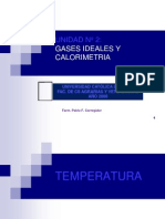 Temperatura y Gases Ideales