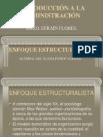 Teoria Burocratica y Estructural