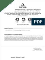 Manual Usuario Autoclave Cristofoli Vitale