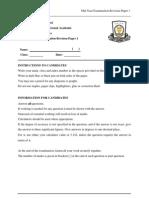 3 EM 2012 Mid Year Examination Revision Paper 1