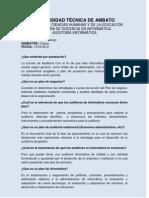 Planeacion en Auditoria Informatica