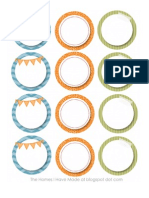 Green Orange and BlueParty Labels