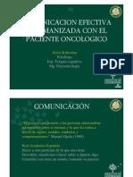 Comunicacion Con El Paciente Oncologico