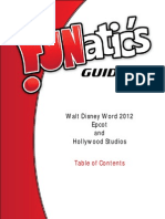 FUNatic's Guide to Walt Disney World 2012 - Epcot and Hollywood Studios Sample Table of Contents