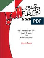 FUNatic's Guide to Walt Disney World 2012 - Magic Kingdom and Animal Kingdom Sample Pages