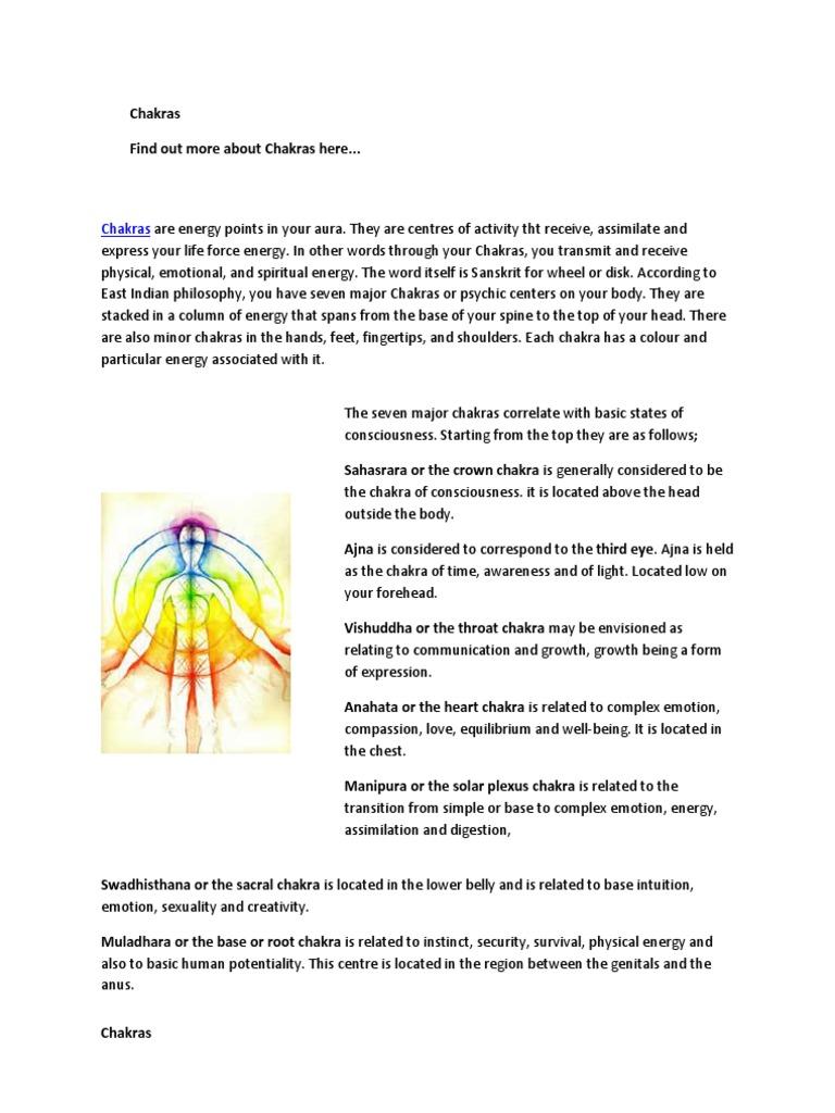 Chakras (2) | Chakra | Ayurveda