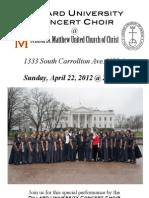 Dillard Choir Flyer Community