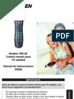 Contro Remoto Rm 20 Instr