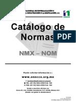 Catálogo NMX- Actualizado