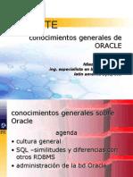 Conocimientos Generales Sobre Oracle 01