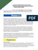 Postaprotezione SiCura, la nuova polizza che copre le spese mediche della famiglia.