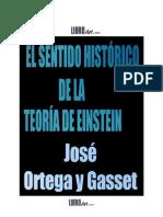 El Sentido Historico de La Teoria de Einstein