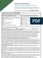 Consciousness Club SAC Questionnaire