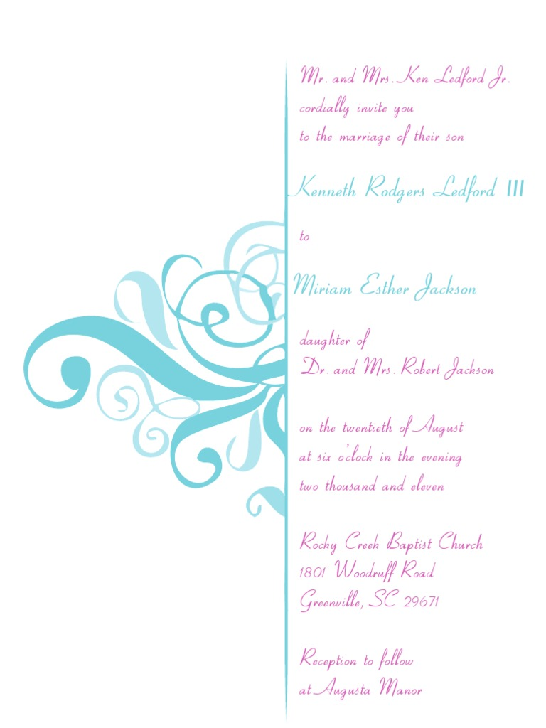 Jackson Wedding Invitation