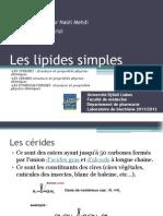 Les Lipides Simples Ceride Steride .....