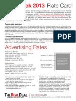 2013 Data Book Rate Card