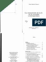 MARTIN VELASCO_LA TRANSMISIÓN DE LA FE