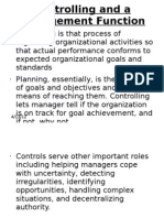 6) Controlling and a Management Function