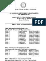 Cronograma de Los Talleres 1er. Sem. 2012 (1)