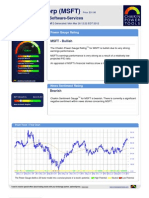 Stock Research Report for MSFT as of 3/26/2012 - Chaikin Power Tools