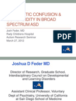 Diagnostic Confusion Comorbidity in Broad Spectrum ASD March 2012 (Redacted for Posting)