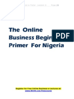 Start Online Business in Nigeria eBook Website by Aweriale Eromosele