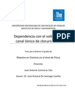 Juan Antonio Tesis Dependencia con el voltaje del canal iónico de cloruro ClC-2