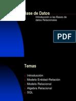 Introducción a las Base de Datos